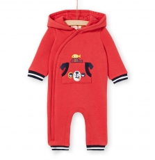 Lunocom Baby Boys Hooded Boa Lined All In One