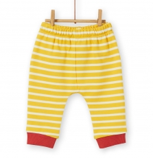 Lunopan2 Baby Boys Striped Yellow Jersey Trousers