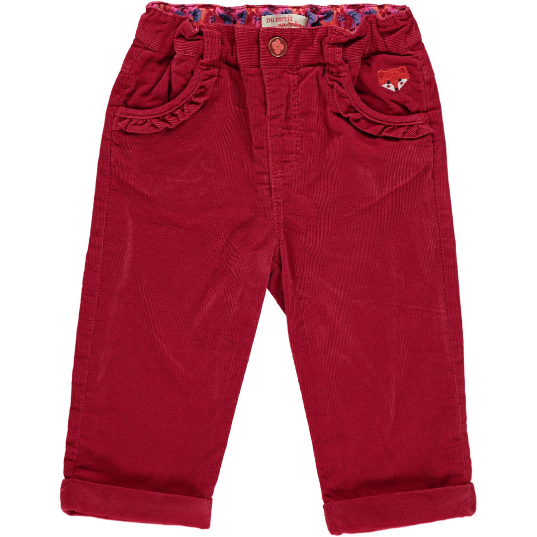 Bbfhapant Baby Girls Red Trousers