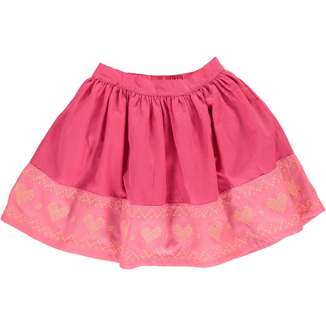 Cahojup Girls Pink Cotton Skirt