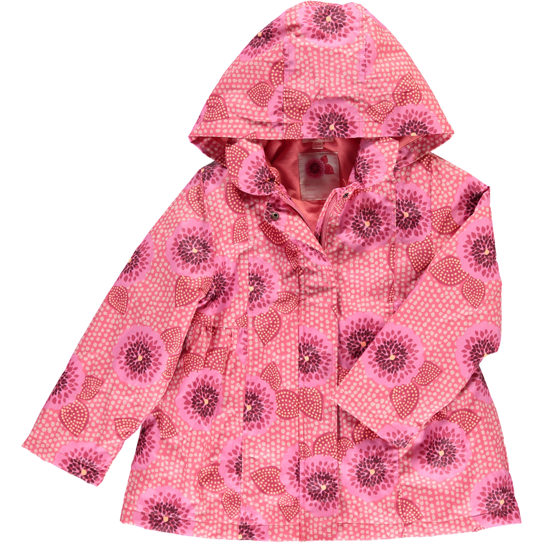 Cahoparka1 Girls Lined Hooded Raincoat