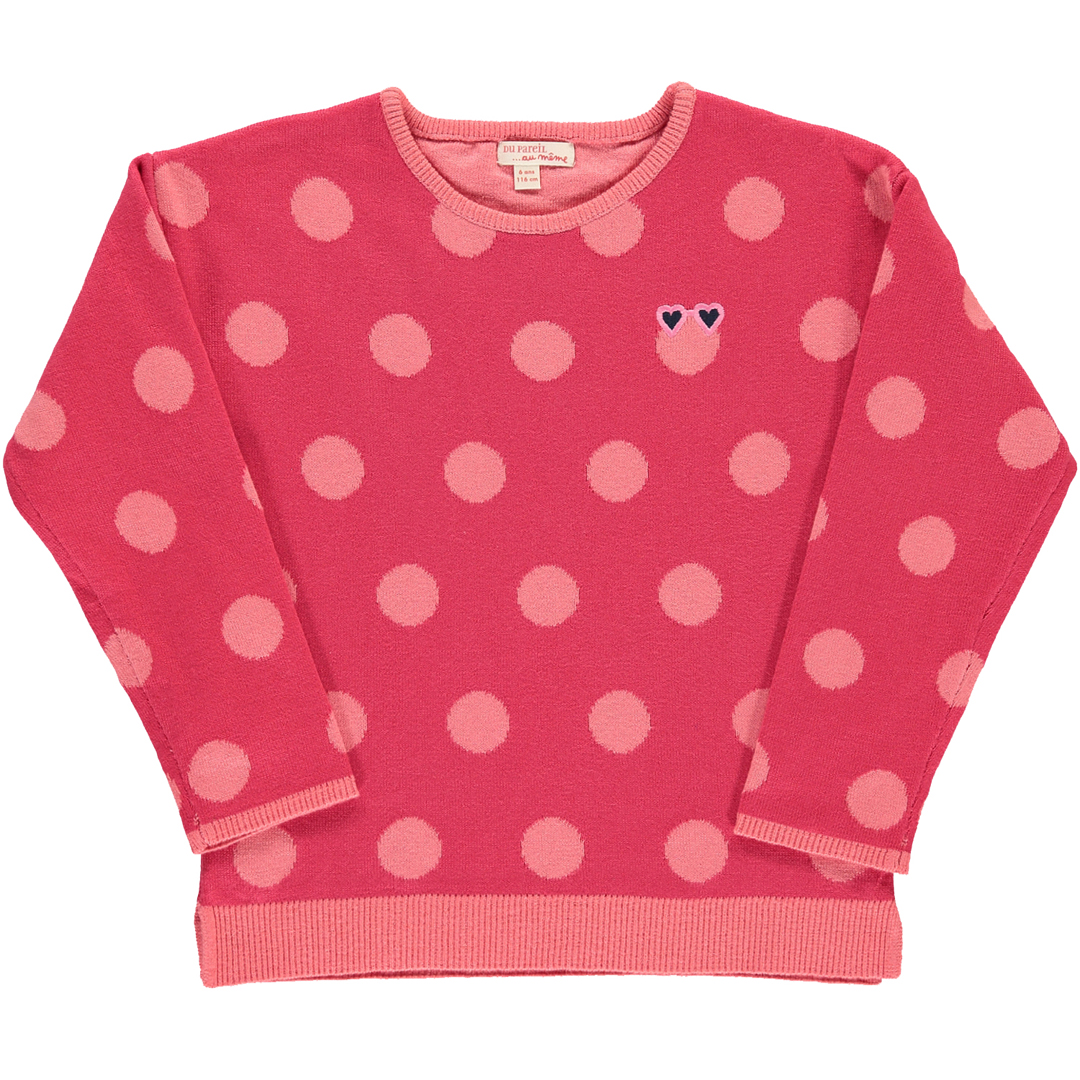 Cahopul2 Girls Pink Knit Jumper