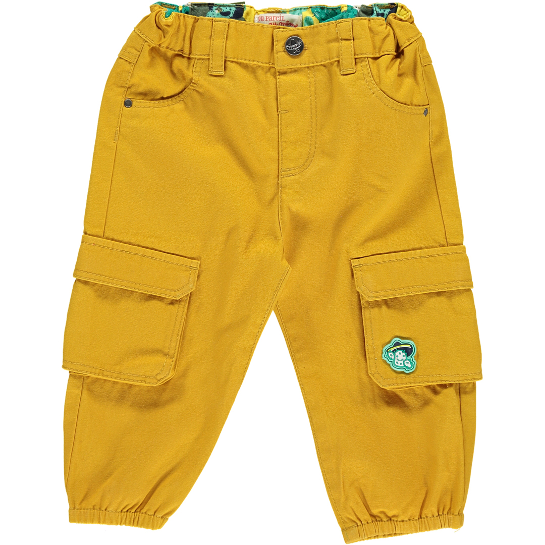 Cupipan1 Baby Boys Yellow Cotton Trousers
