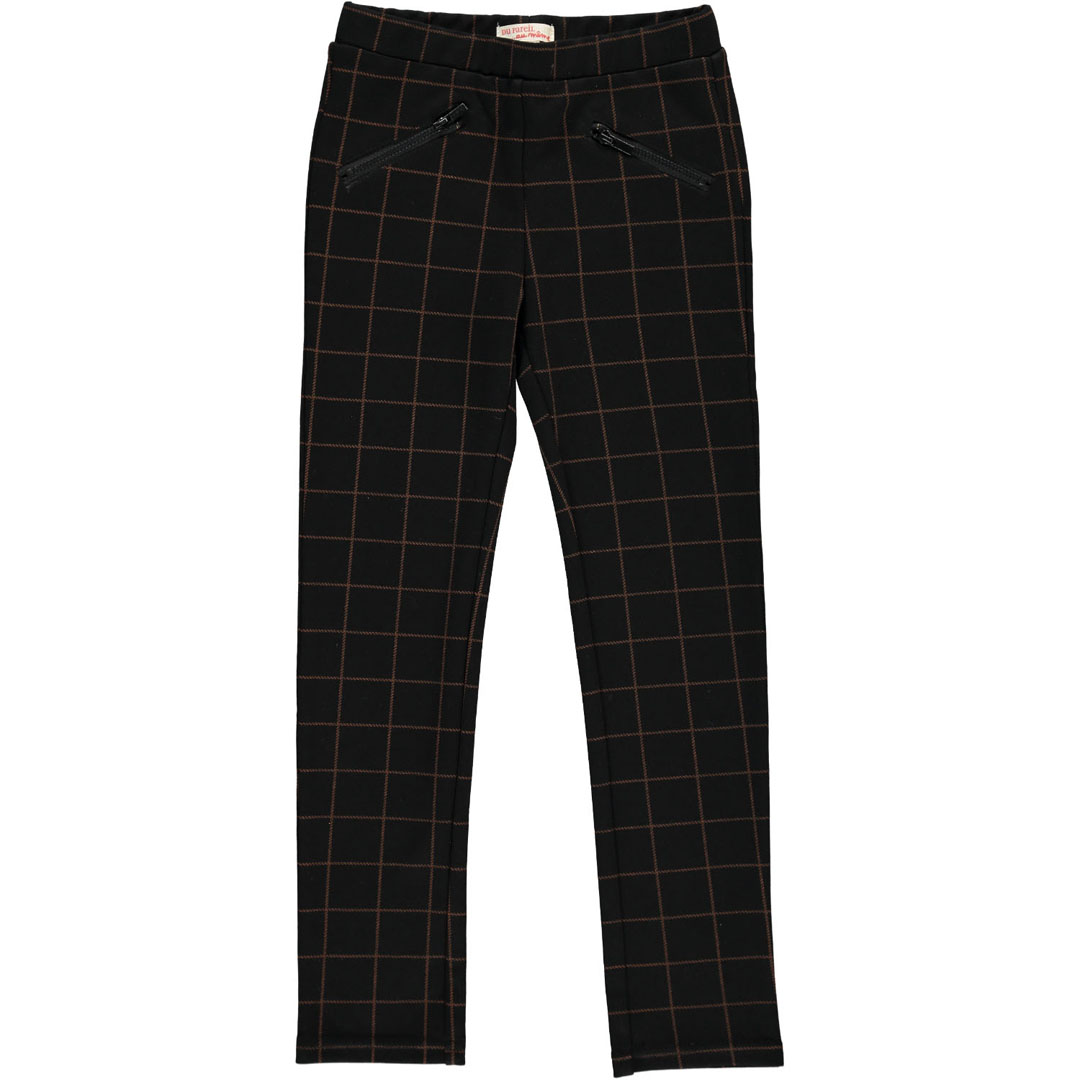 Dachopant Girls Black Check Pencil Trousers