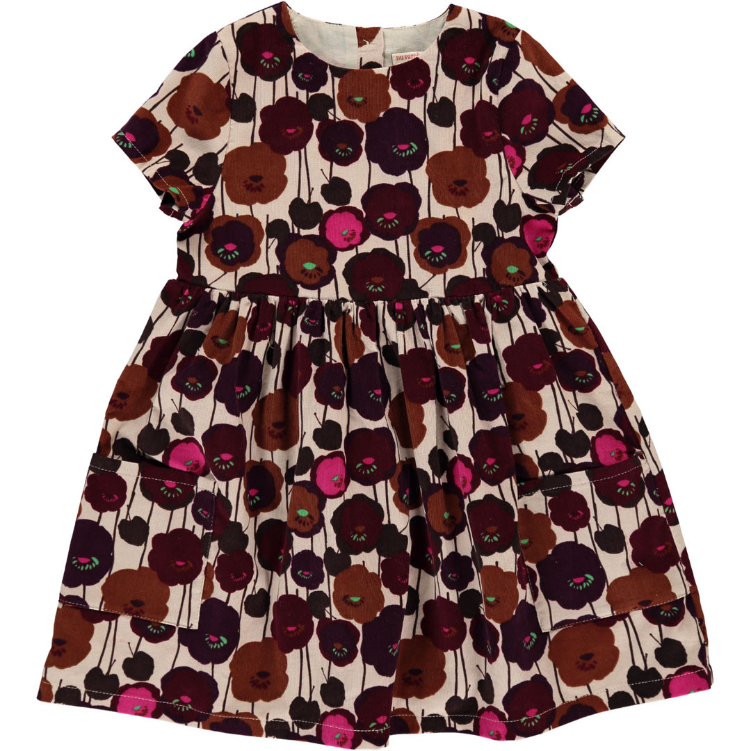 Dachorob1 Girls Printed Cord Dress