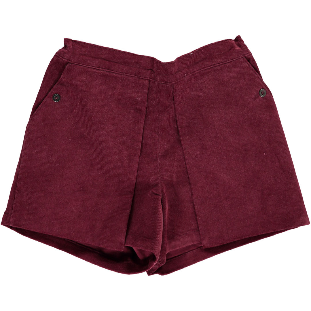 Dachoshort Girls Wine Cord Shorts