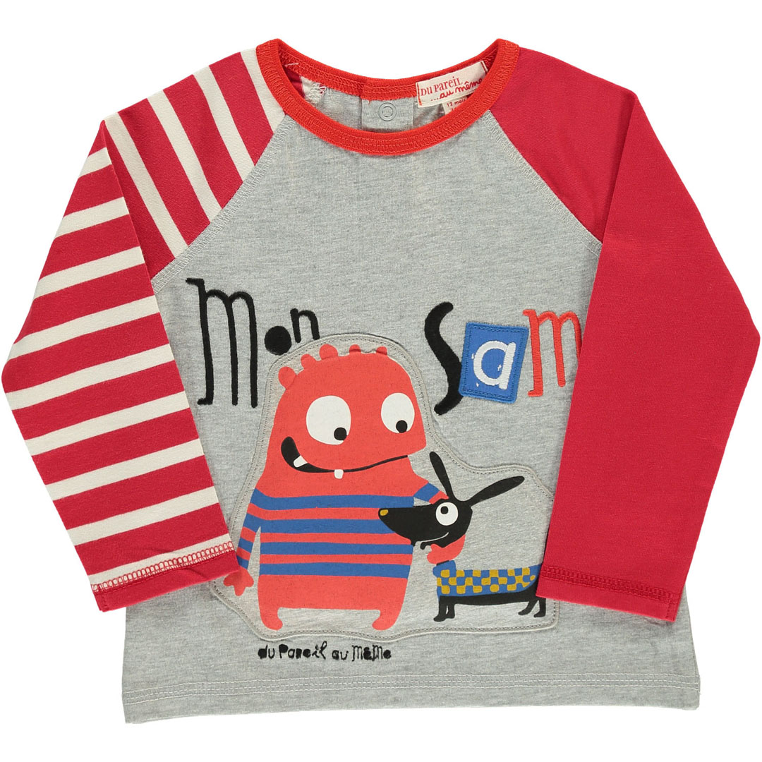 Duroutee1 Baby Boys Long Sleeved Printed T-shirt