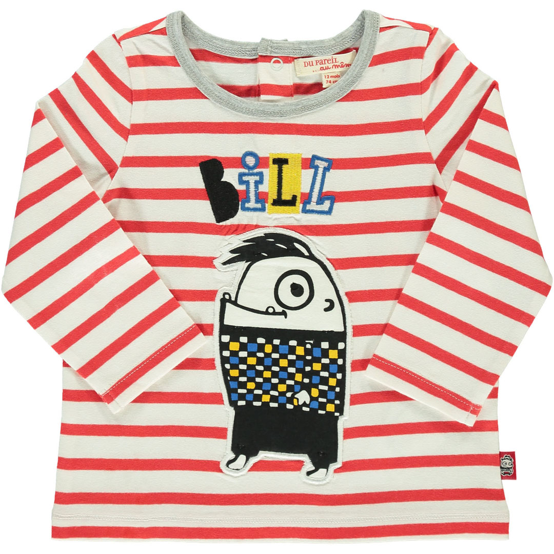 Duroutee2 Baby Boys Striped Cotton T-shirt