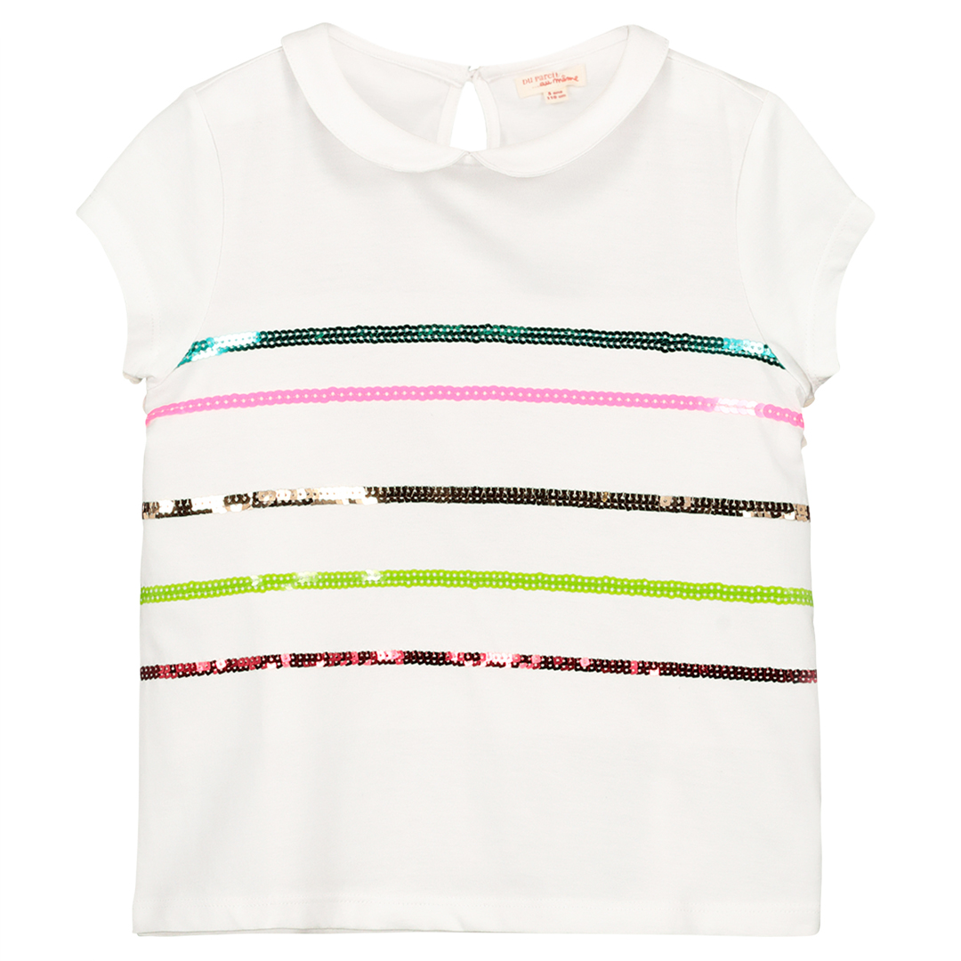 Facabras Girls Sequinned Polo Shirt