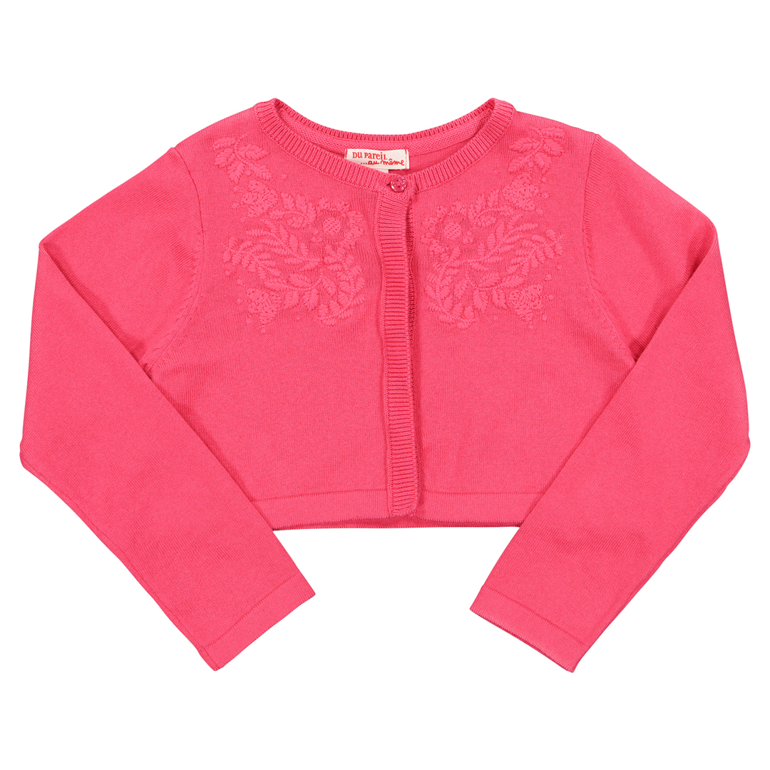 Facacar2 Girls Pink Cotton Cardigan