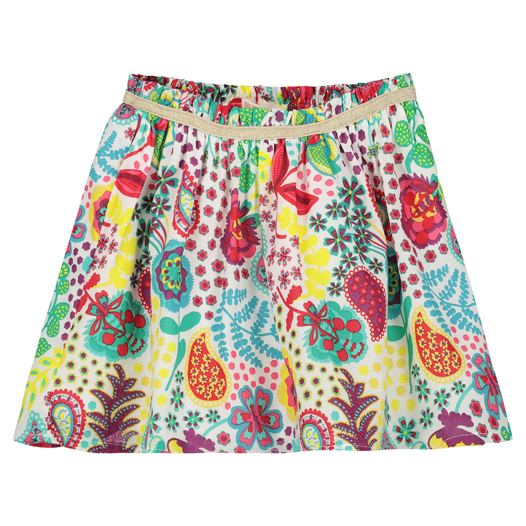 Facajup1 Girls Printed Cotton Skirt