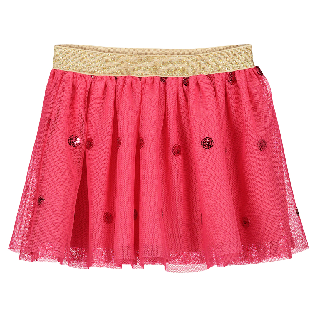 Facajup2 Girls Pink Netted Skirt