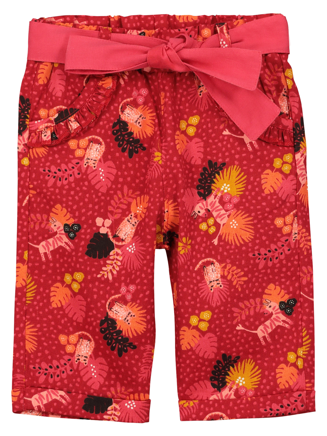 Fibapan Baby Girls Printed Cotton Trousers