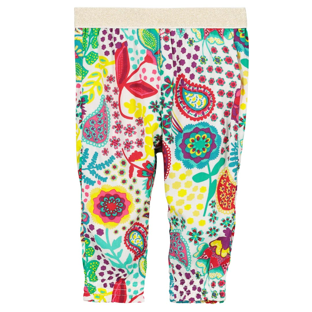 Ficacpan Baby Girls Printed Cotton Trousers