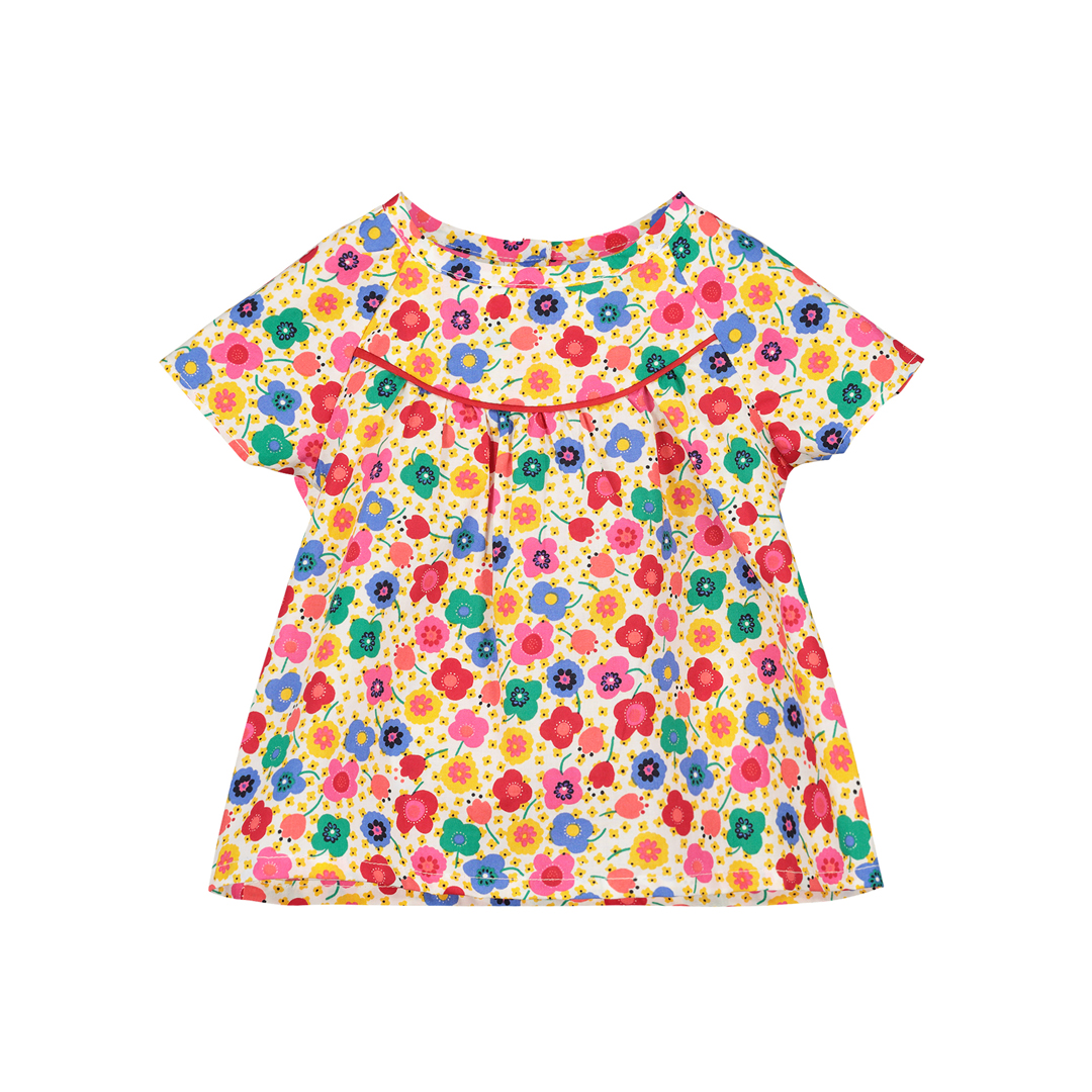 Ficochem Baby Girls Printed Cotton Blouse