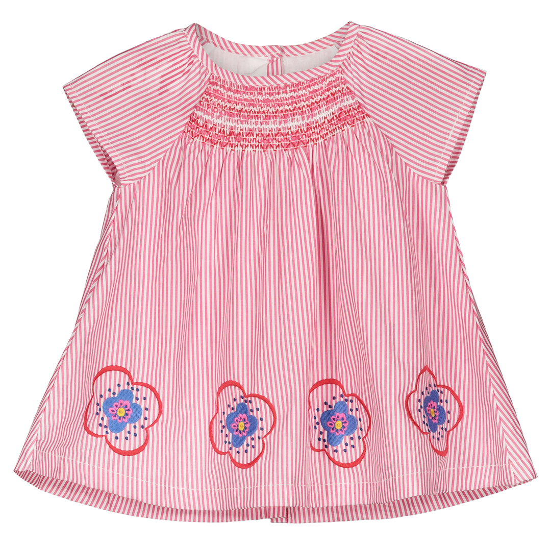 Ficorob1 Baby Girls Rose Cotton Poplin Dress