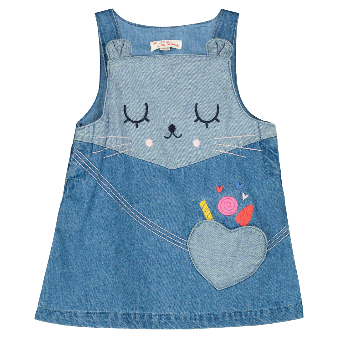 Ficorob2 Baby Girls Denim Pinafore