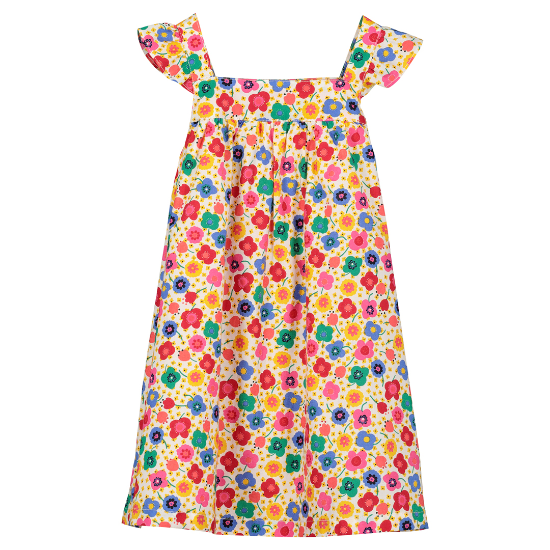 Ficorob3 Baby Girls Printed Cotton Poplin Dress