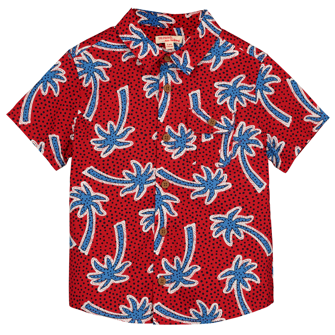 Fotochem Boys Printed Cotton Shirt