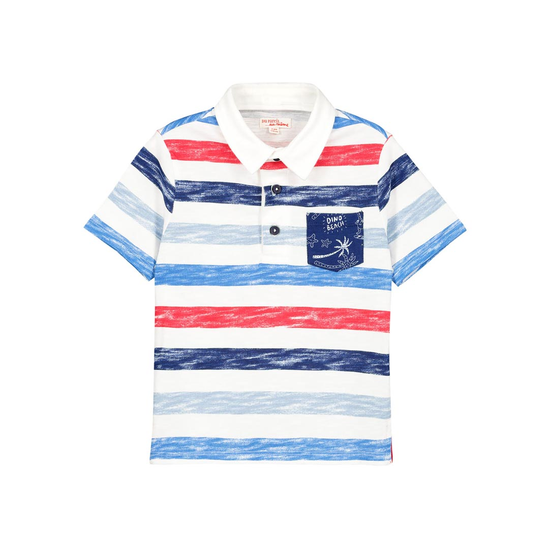 Fotopol Boys Striped Polo Shirt