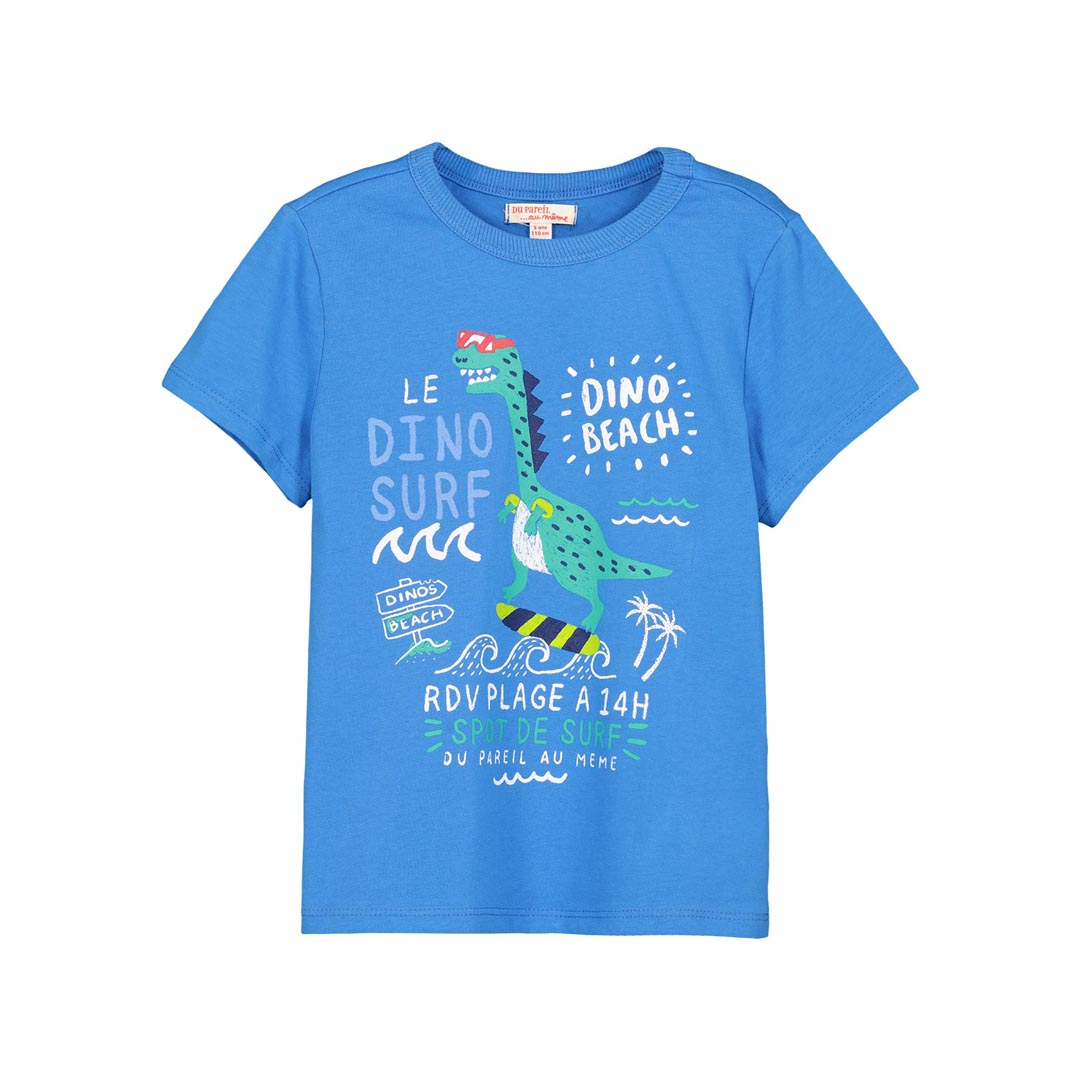 Fototi2 Boys Blue Printed T-shirt