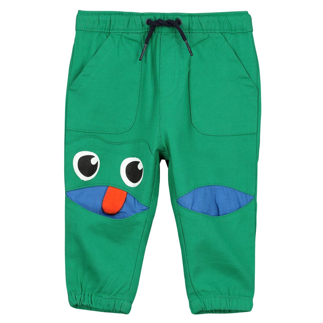 Fucapan2 Baby Boys Green Cotton Trousers
