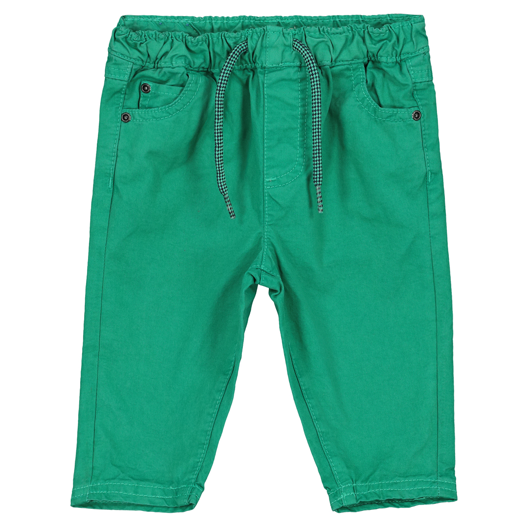 Fujopan3 Baby Boys Green Cotton Trousers