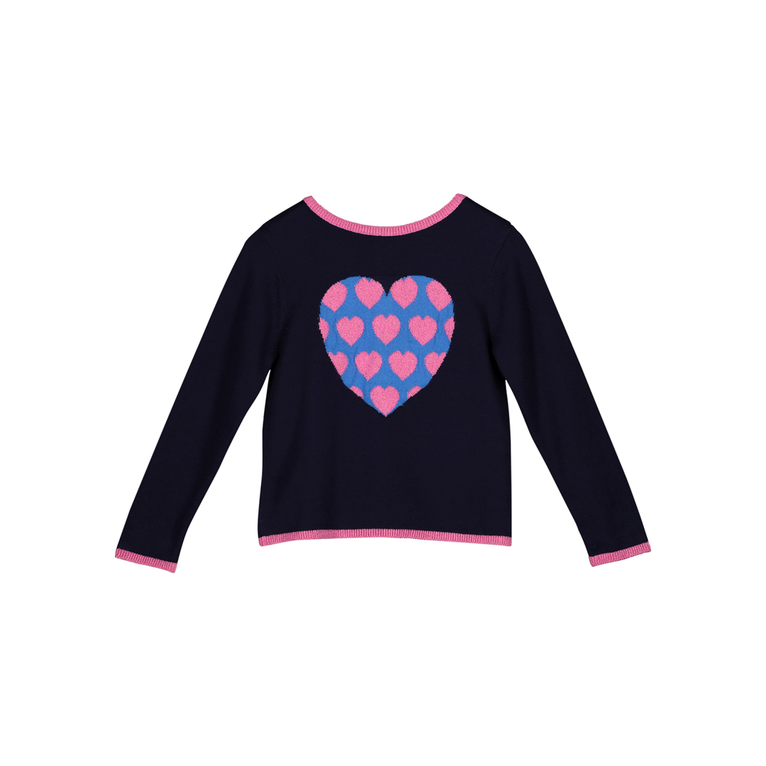 "Gablecar Girls Navy ""Heart"" Cardigan"