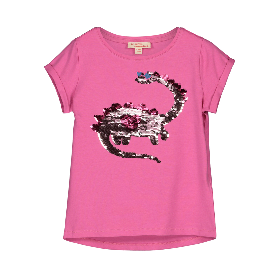 Gableti1 Girls Pink Sequinned T-shirt
