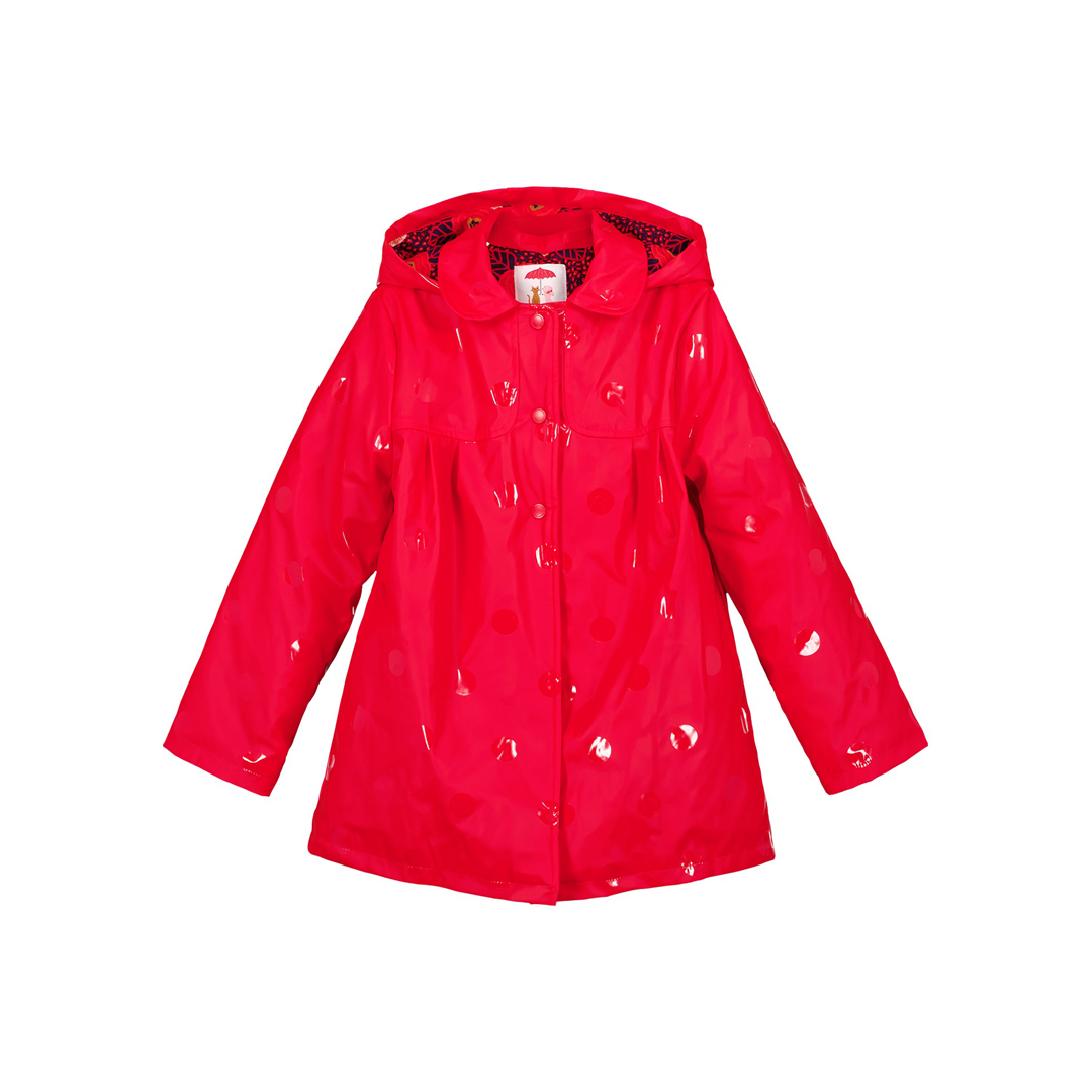 Gasanimper Girls Red Hooded Raincoat