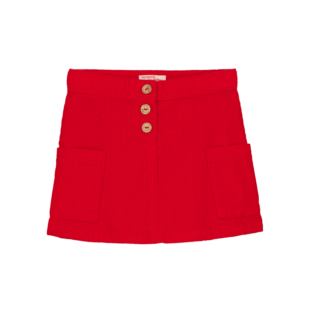 Gasanjup2 Girls Red Corduroy Skirt