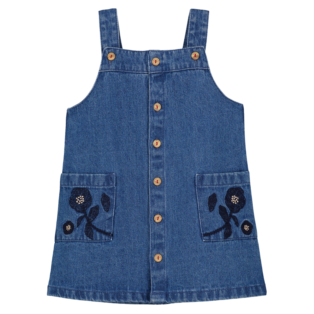 Gasanrob2 Girls Denim Pinafore