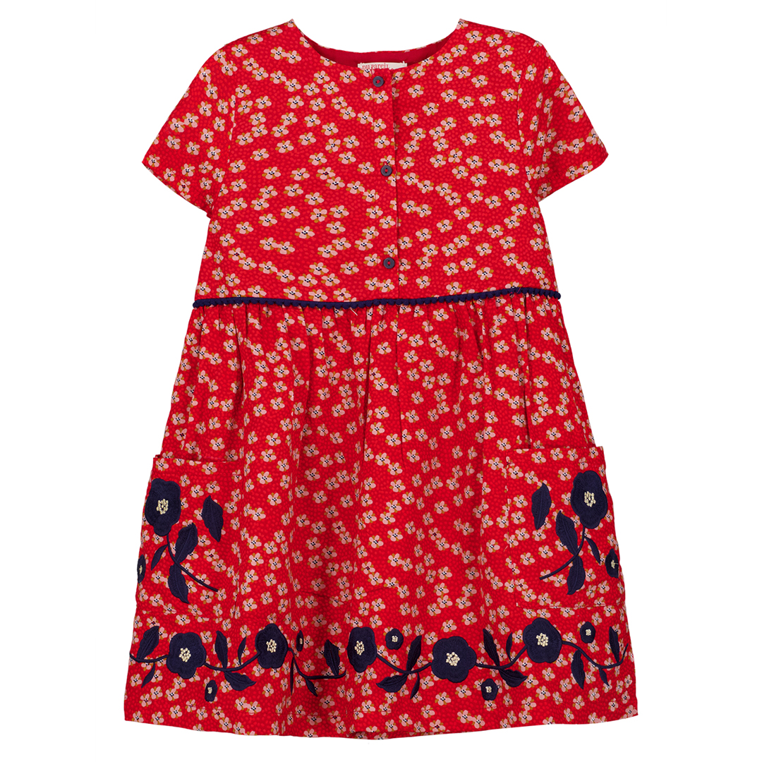 Gasanrob3 Girls Girls Printed Cotton Dress