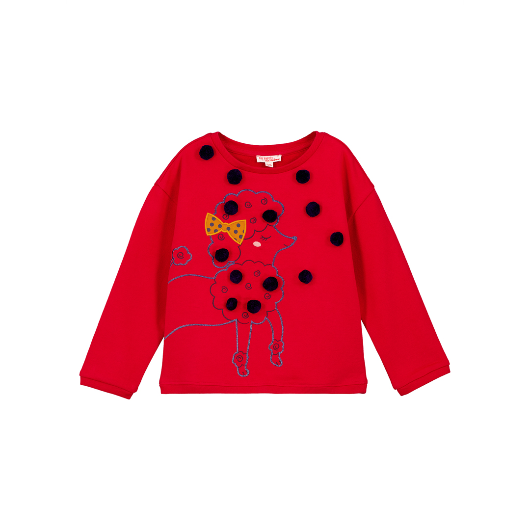 Gasanswea Girls Red Cotton Sweatshirt