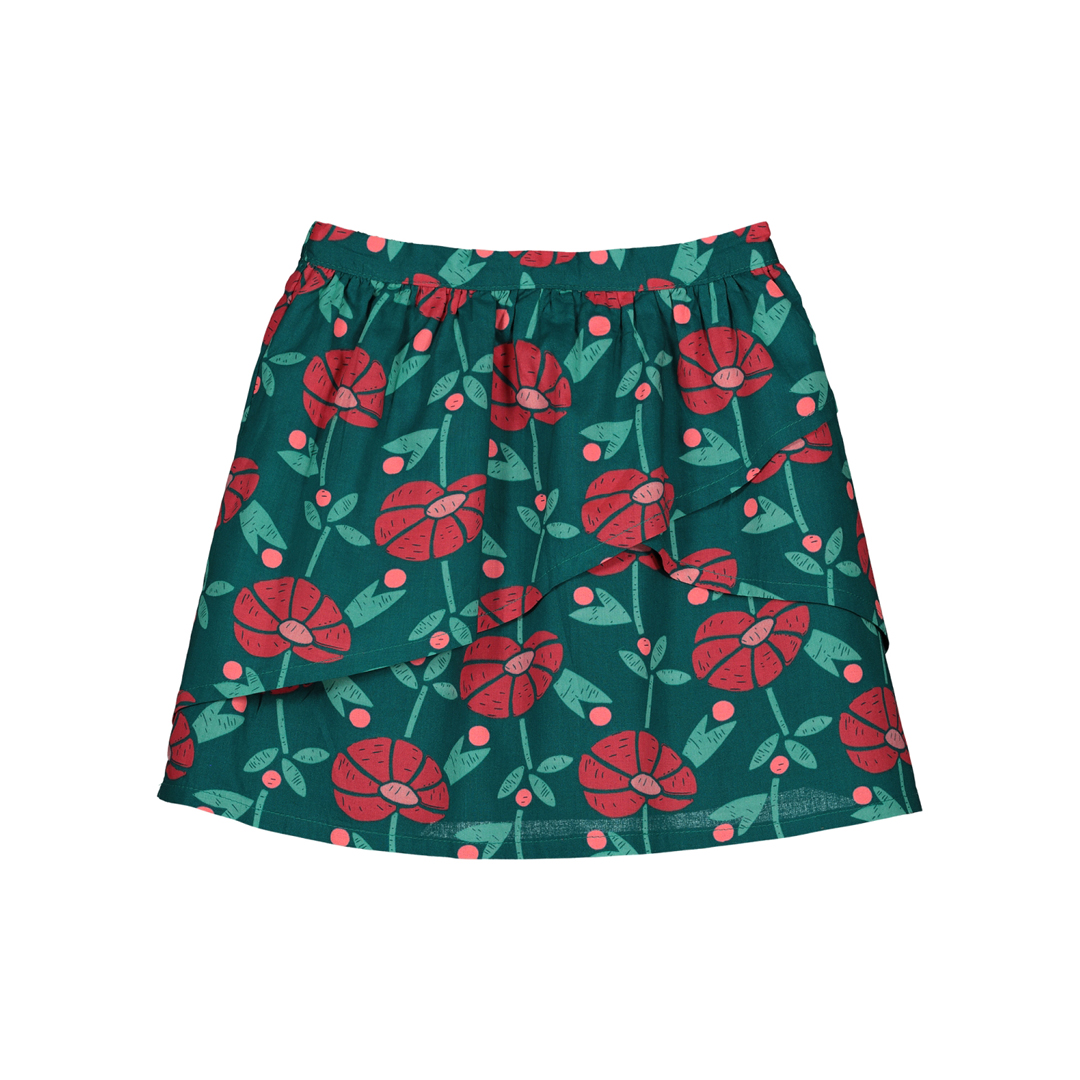 Gavejupe Girls Printed Cotton Skirt