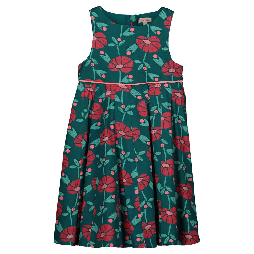 Gaverob2 Girls Printed Cotton Dress