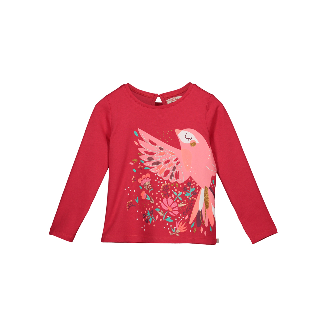Gavetee Girls Pink Printed Cotton T-shirt