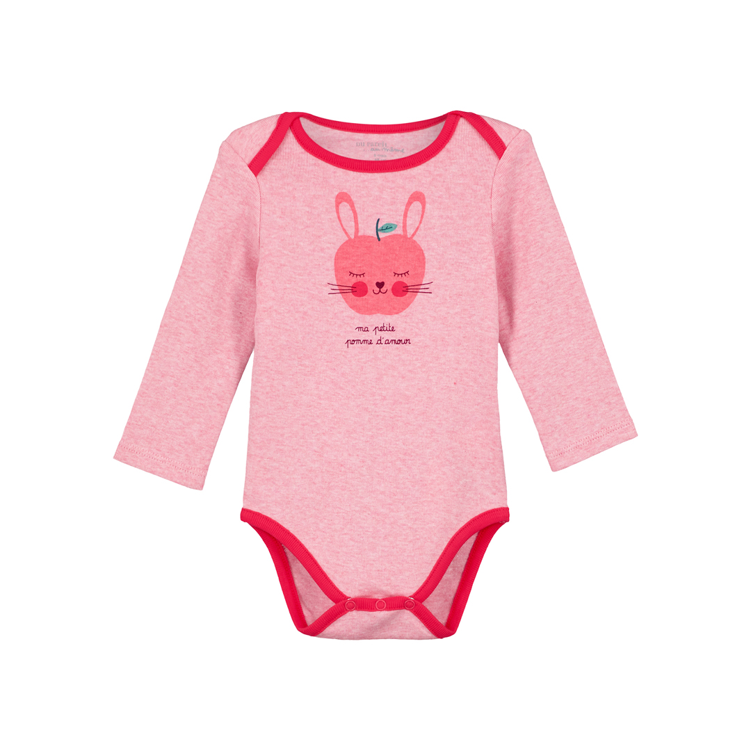 "Gefibodpom Baby Girls Rose ""apple"" Bodysuit"