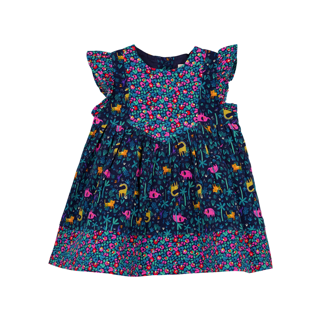 Gimurob3 Baby Girls Printed Velour Dress