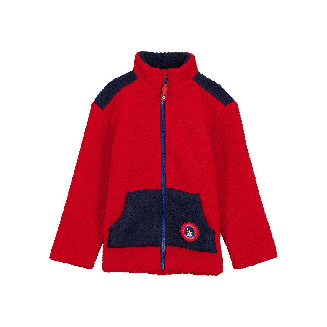 Gotrigil Boys Red Fleece Zipped Top
