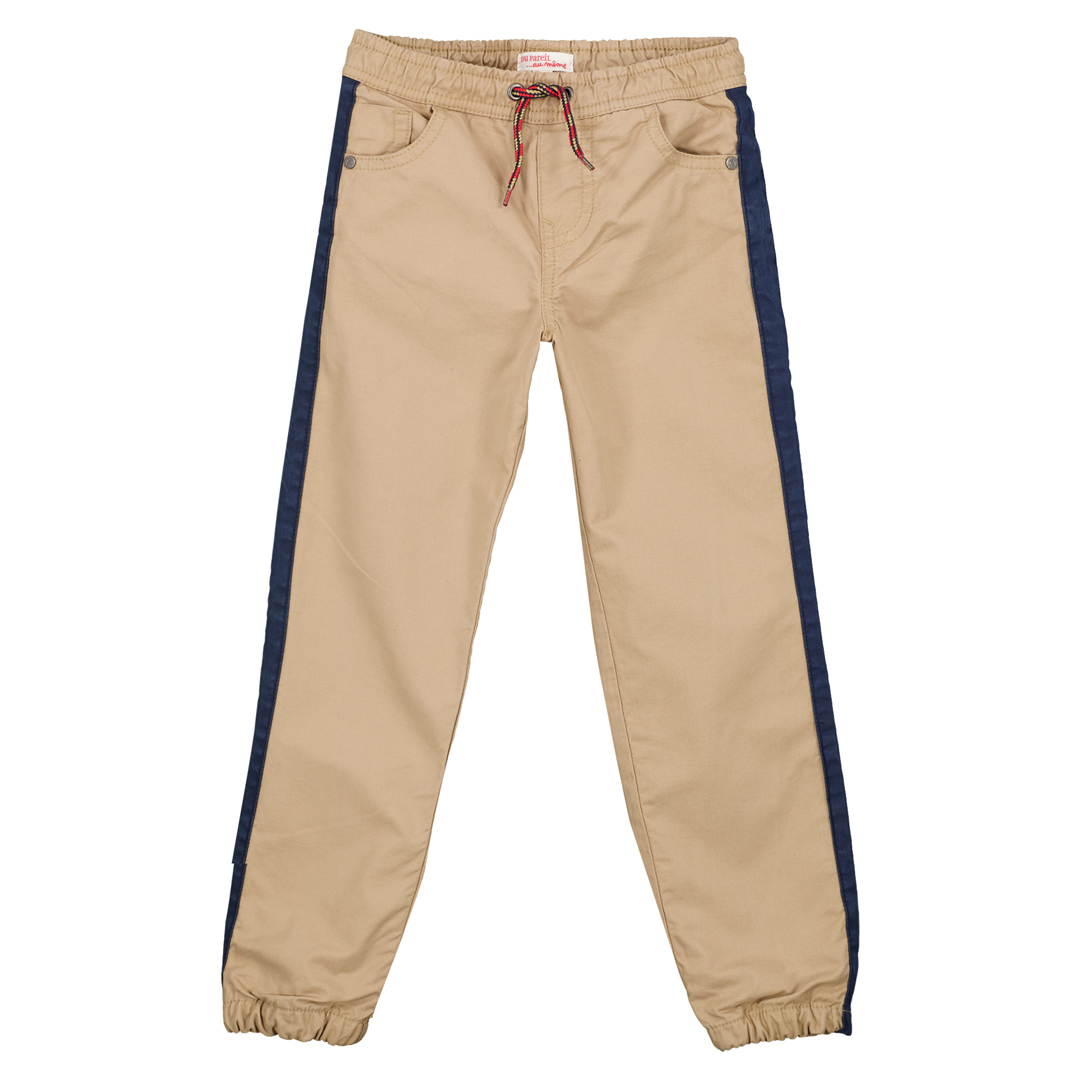 Gotripan2 Boys Beige Twill Drawstring Trousers