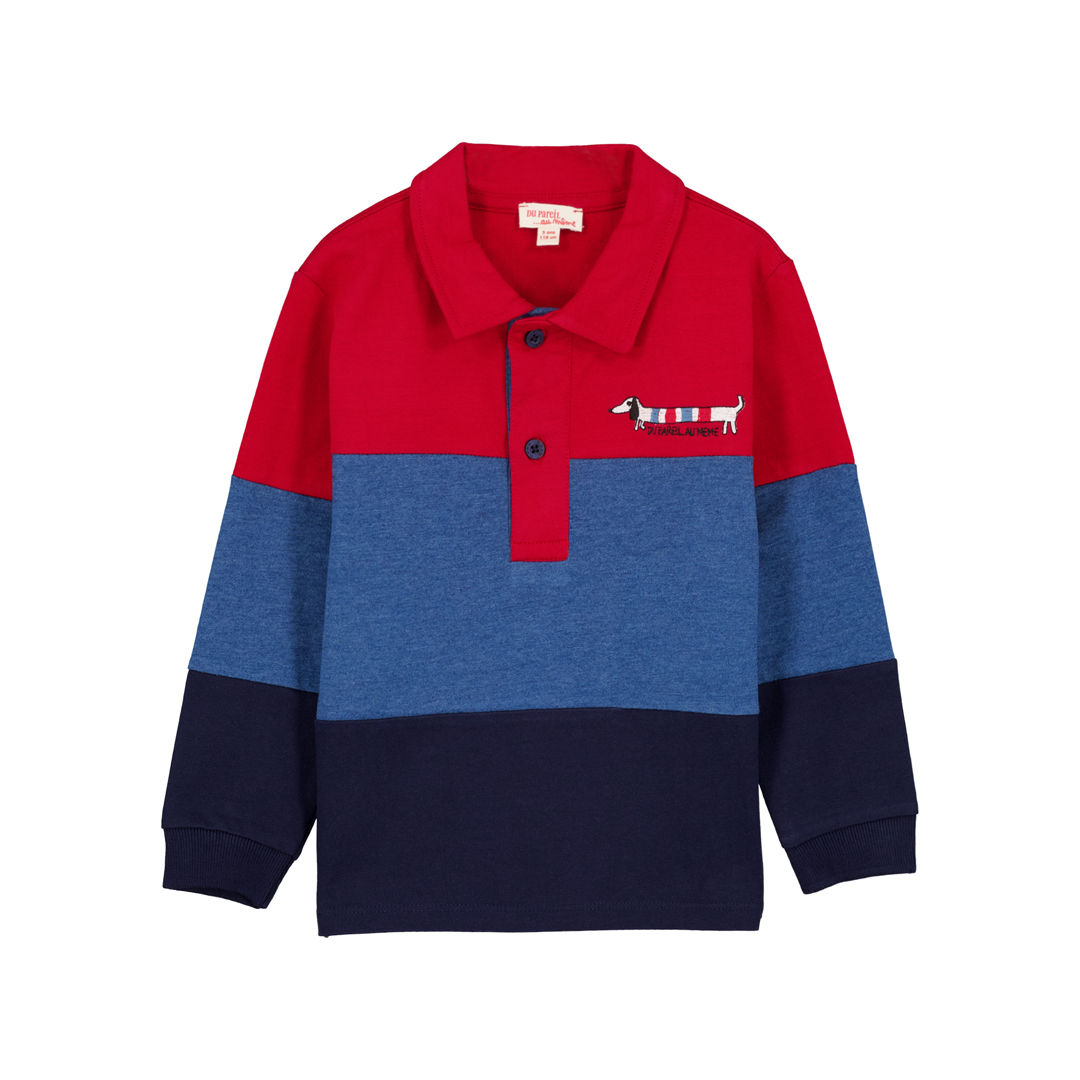 Gotripol Boys Navy And Red Polo Shirt