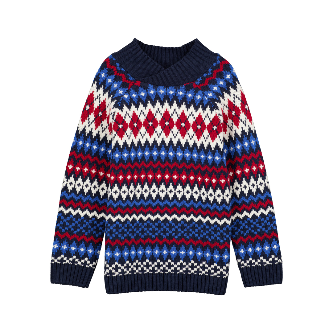 Gotripul Boys Crossover Neck Jumper