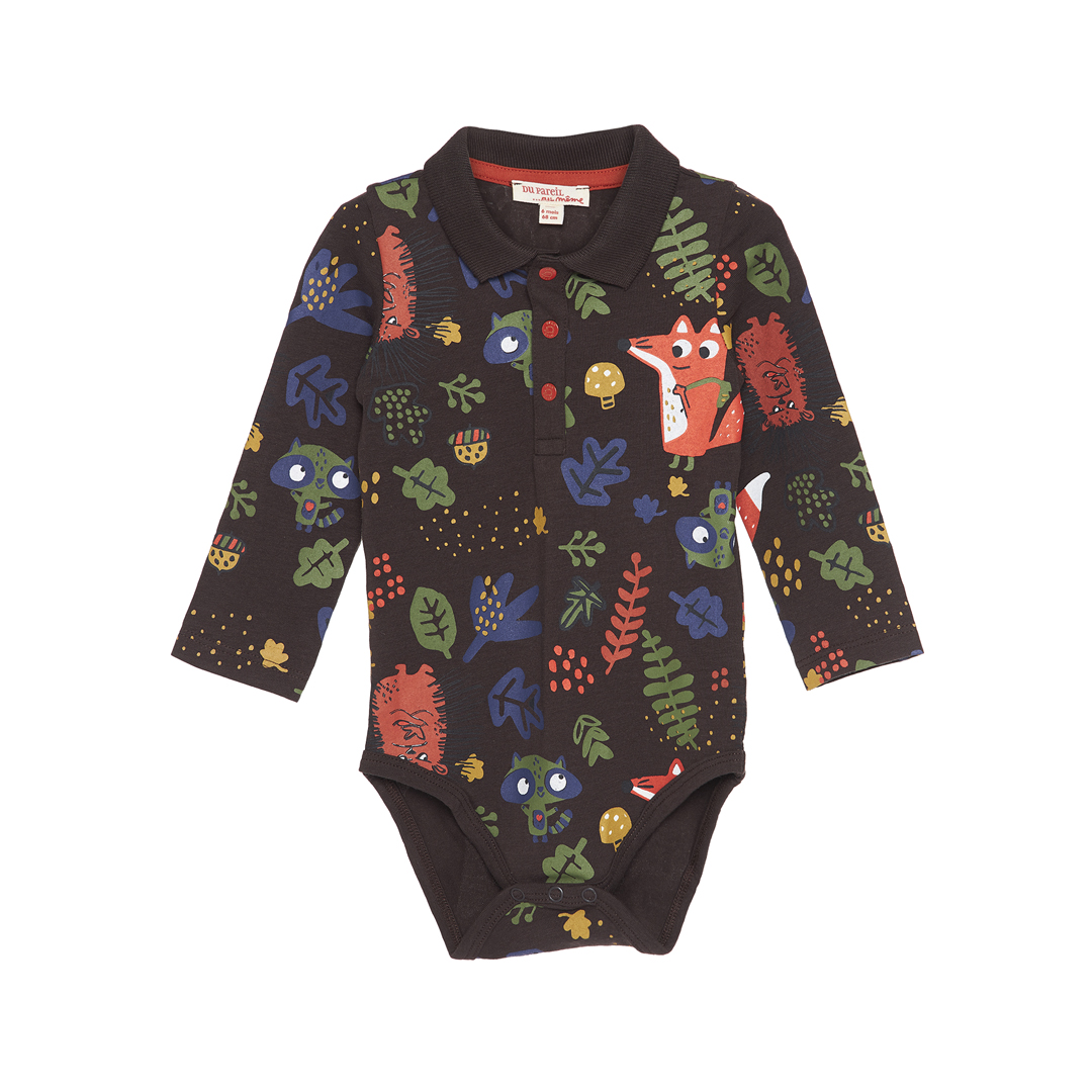 Gubrubod Baby Boys Printed Cotton Bodysuit