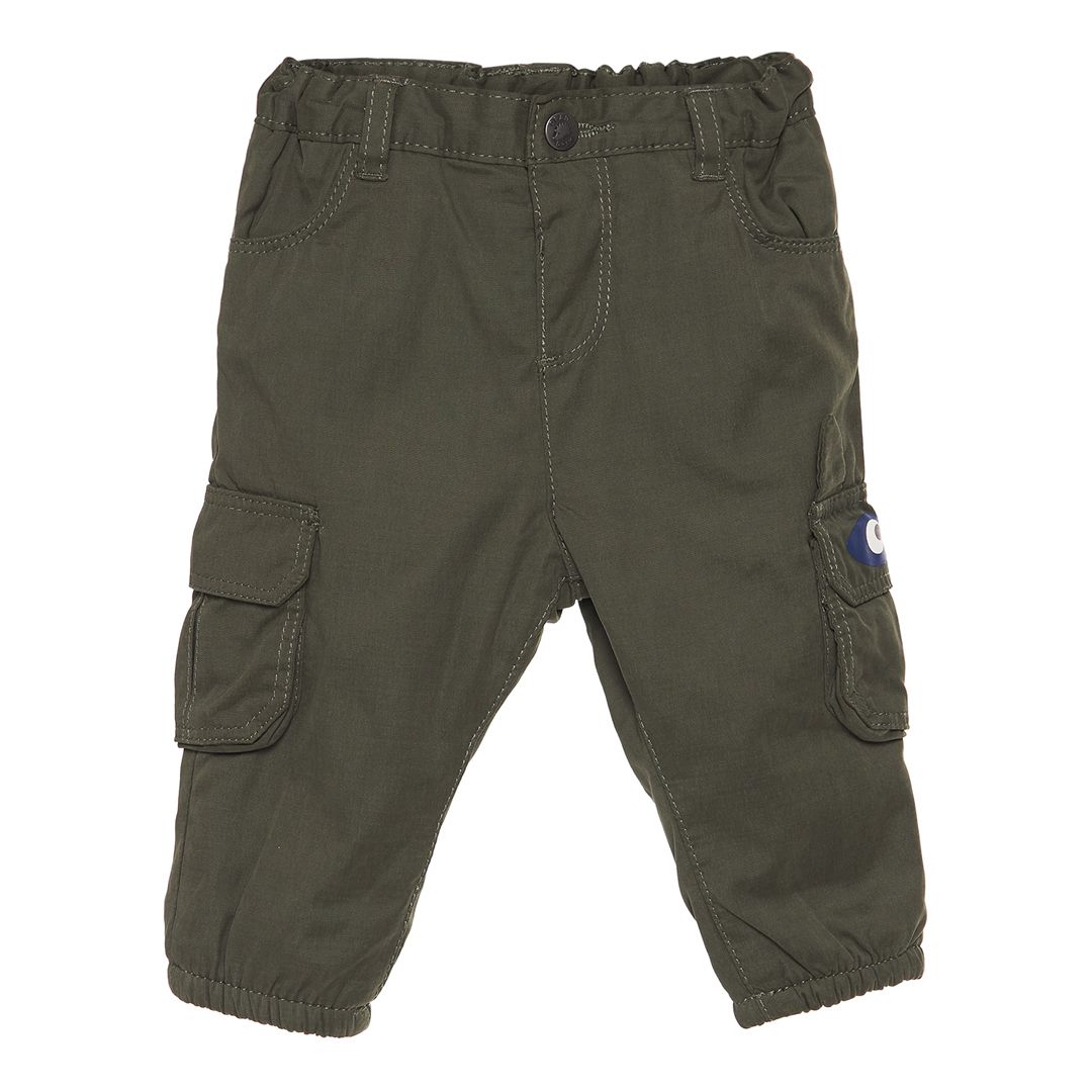 Gubrupan1 Baby Boys Green Lined Cargo Trousers