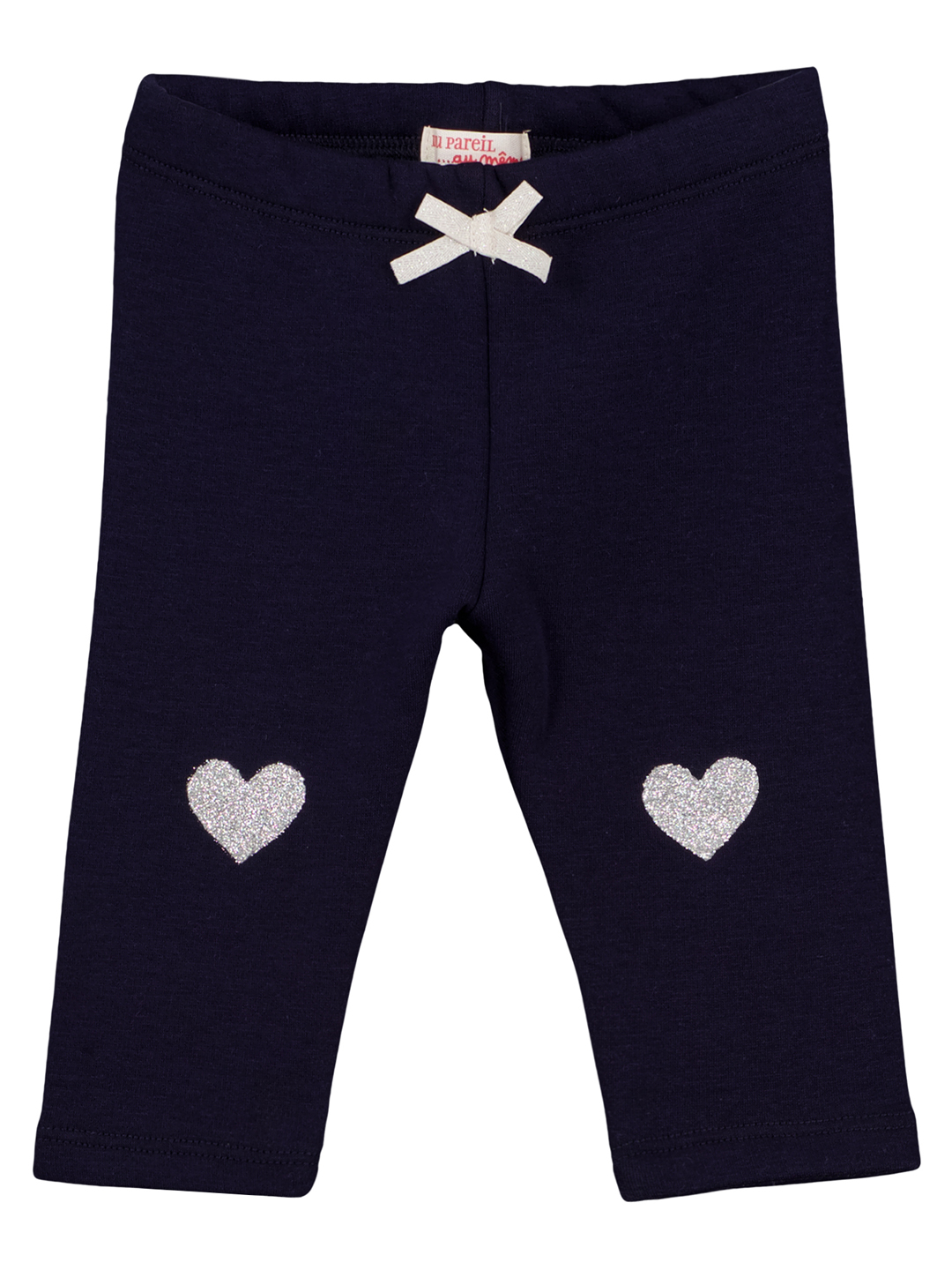 Gijopandou3 Baby Girls Navy Fleece Leggings