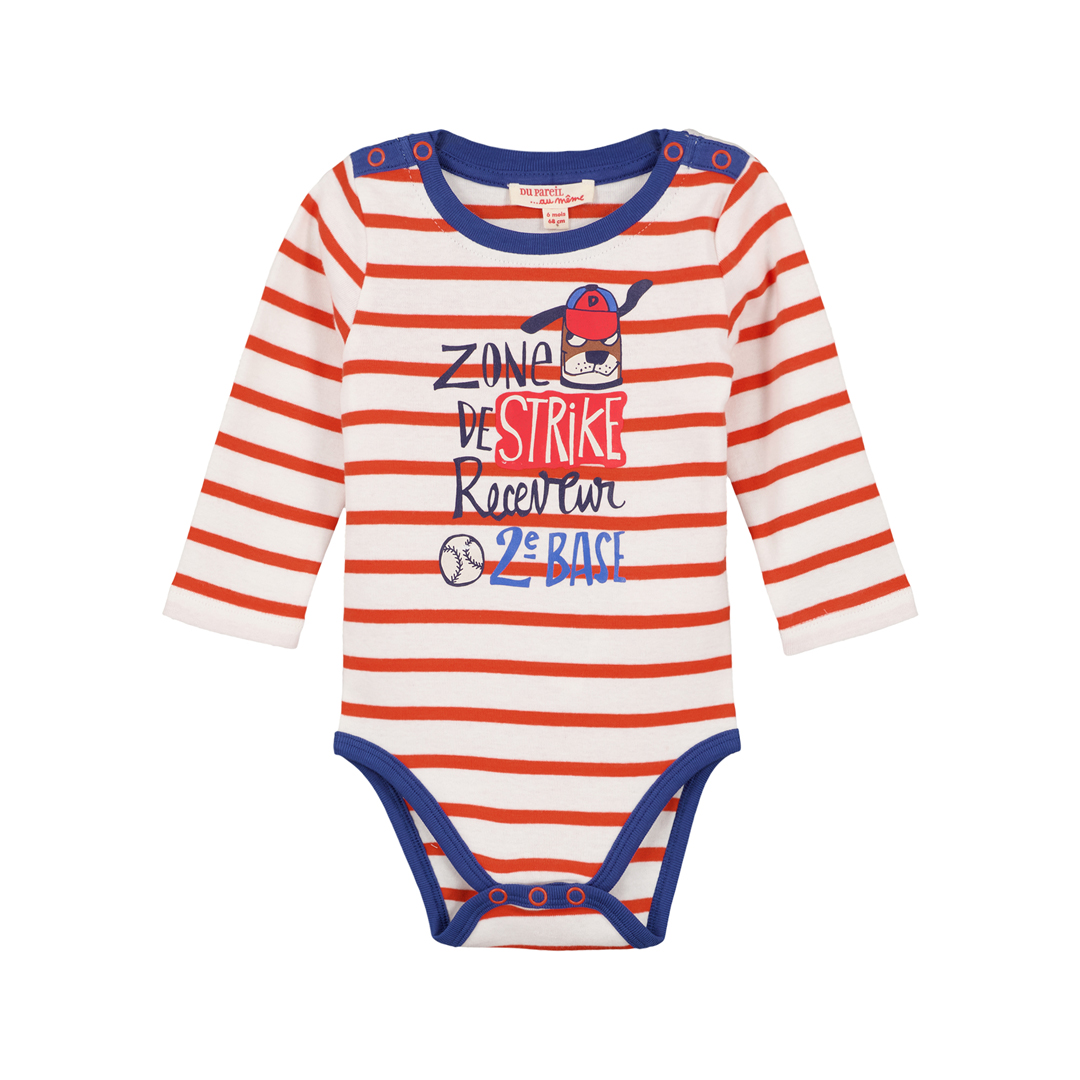 Gusanbod Baby Boys Striped Bodysuit