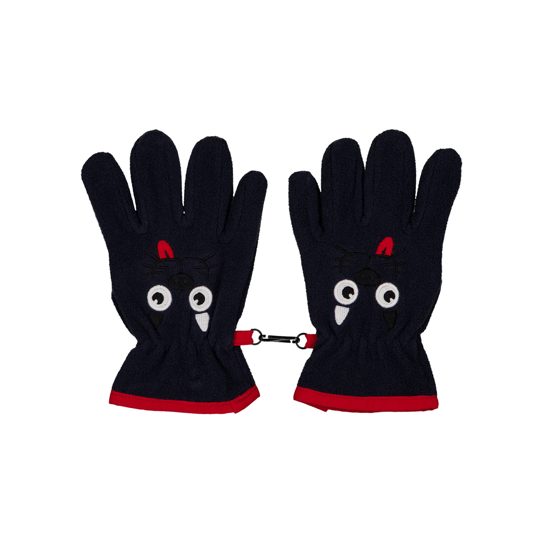 Gyotrigan Boys Navy Polar Gloves