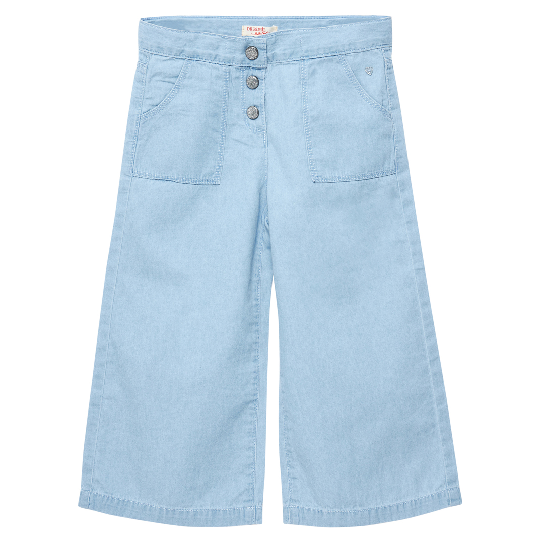 Jaceapant Girls Flared Denim Chambray Trousers