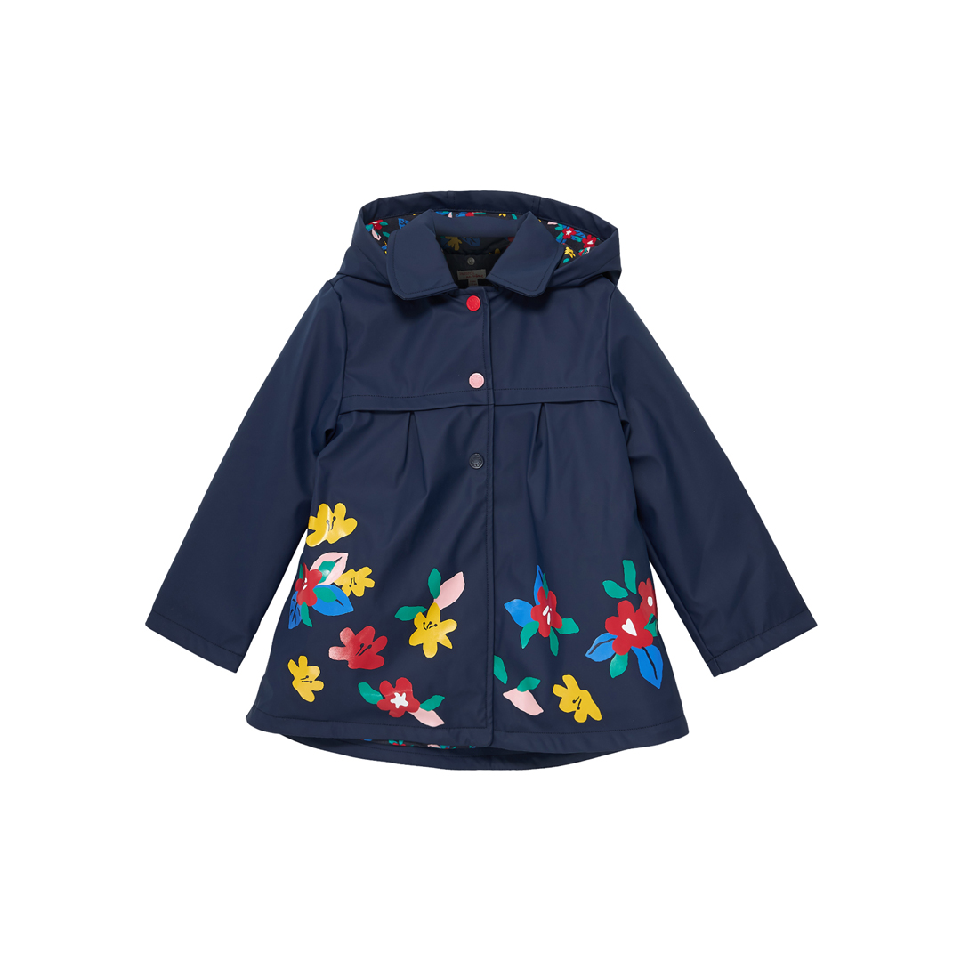 Jagraimper1 Girls Navy Hooded Raincoat